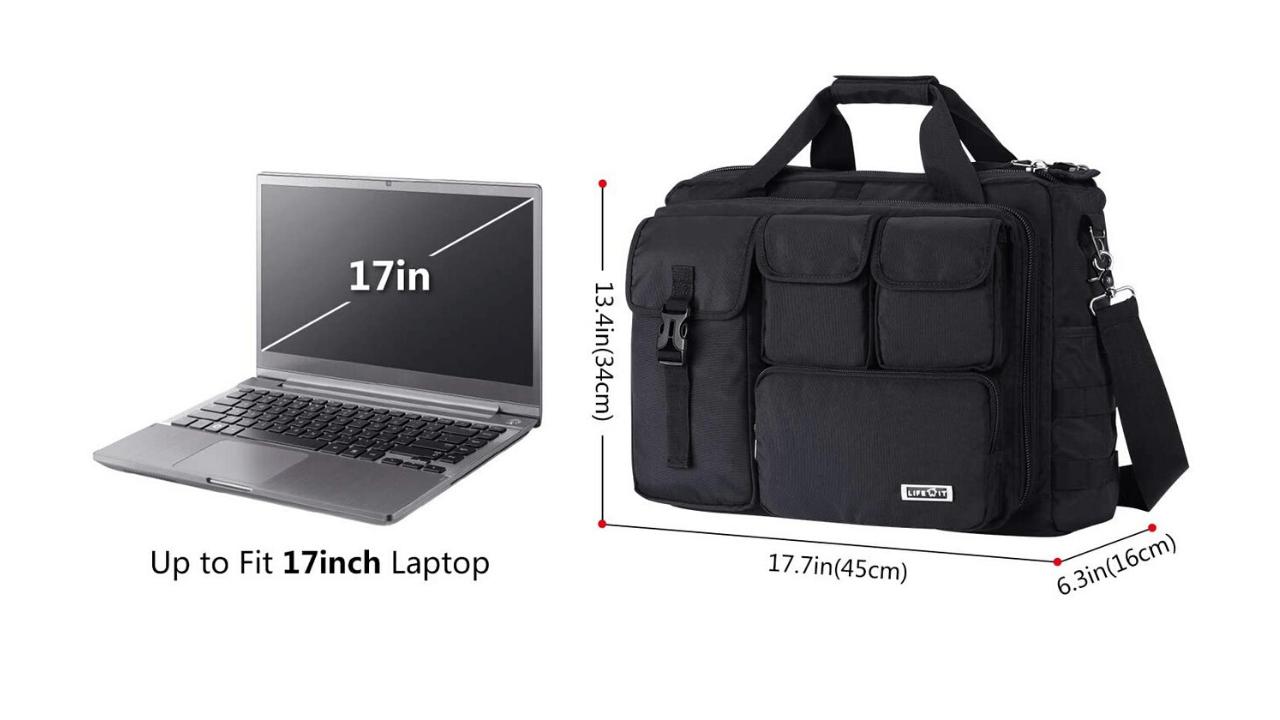 Lifewit Laptop Bag Extra Features
