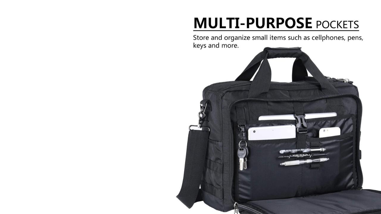 Lifewit Laptop Bag Main Compartments