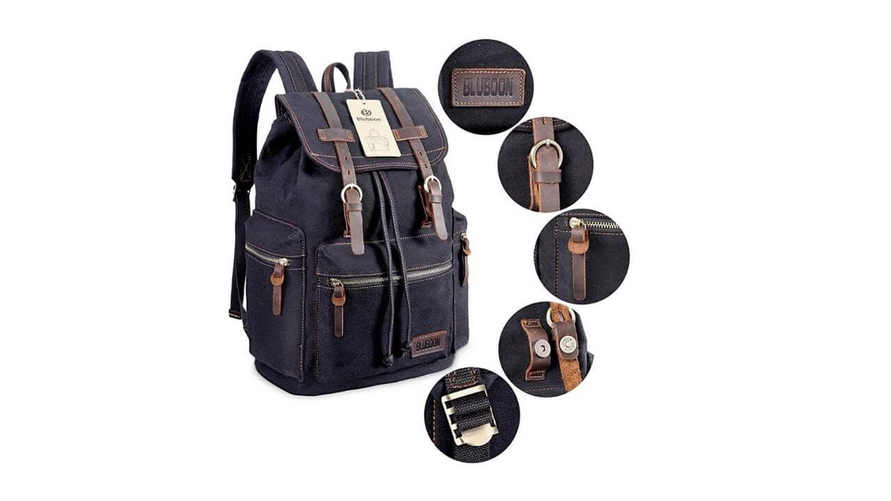Bluboon Canvas Backpacks For Travel