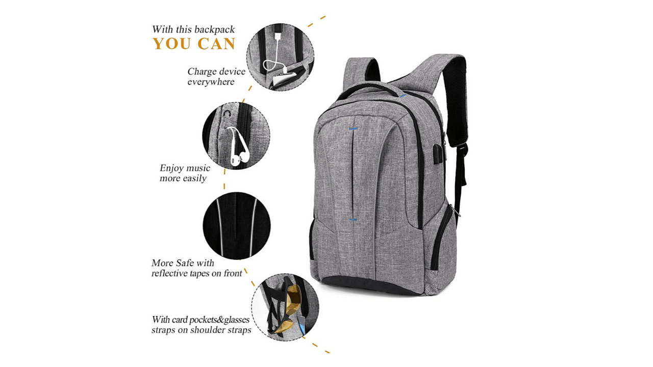 Dimux Laptop Backpack External