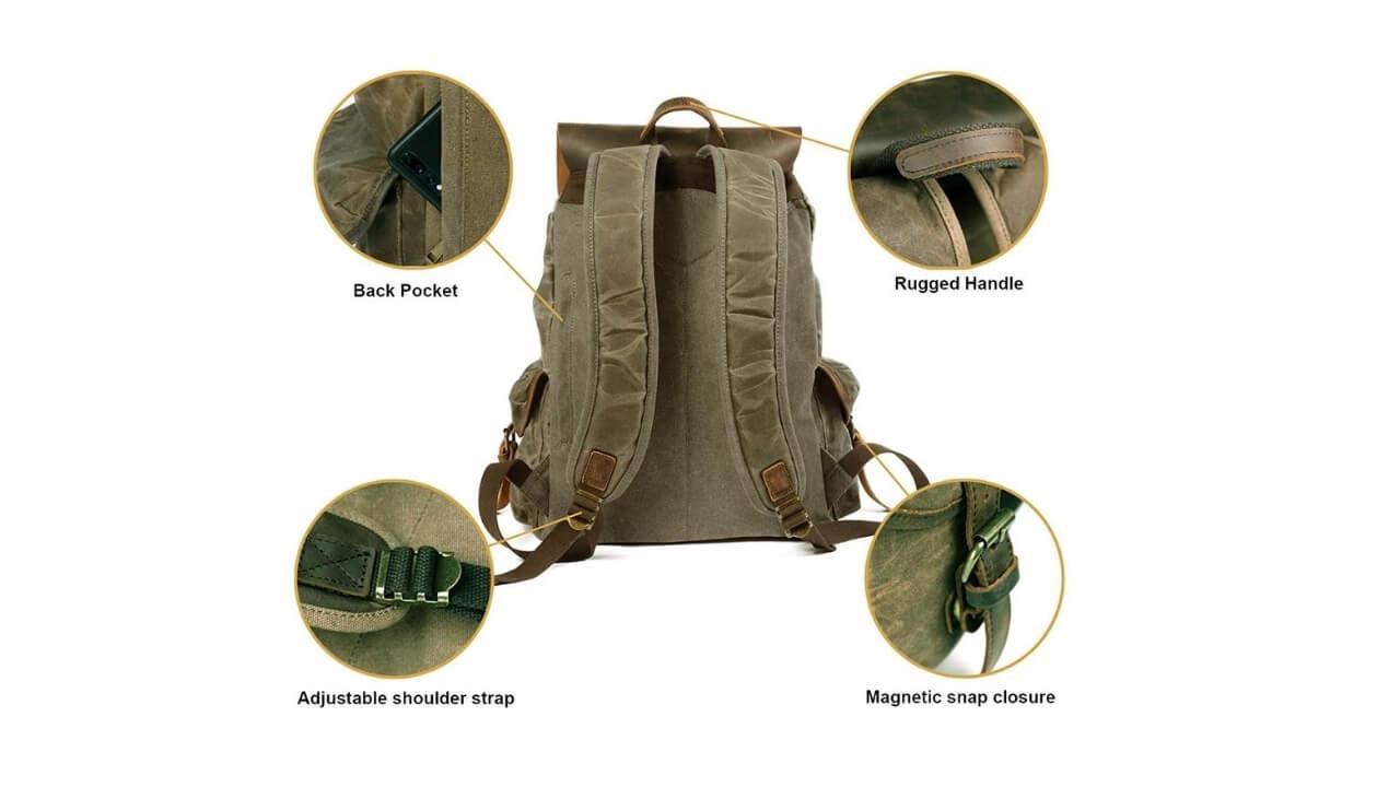 Huachen Canvas Backpacks