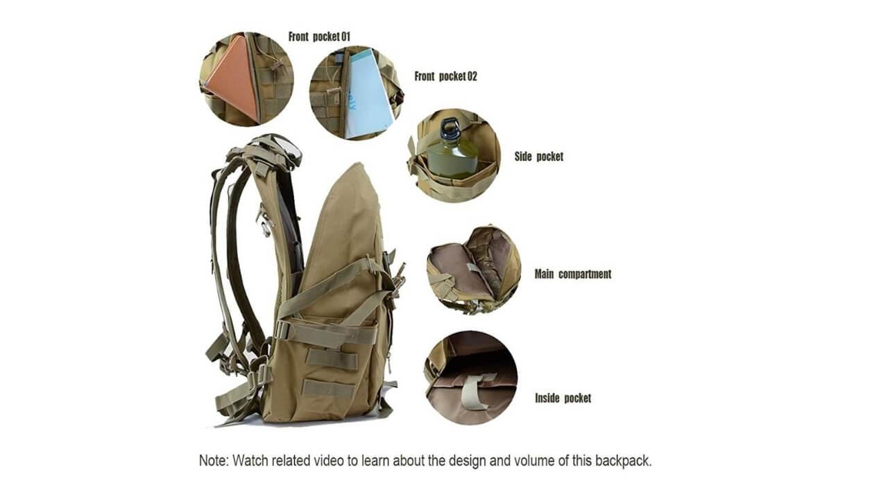 LHI Best Tactical Backpack Under 50$