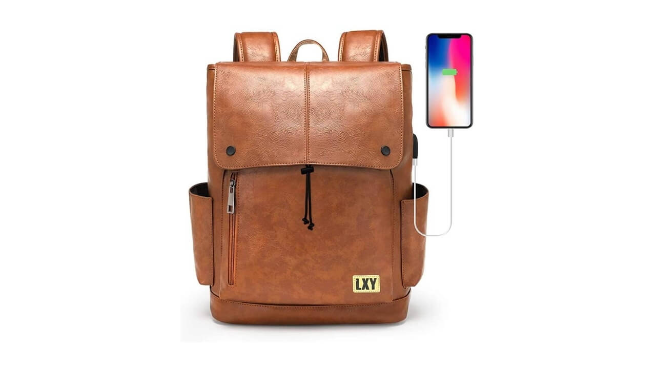 LXY Vintage Leather Backpack