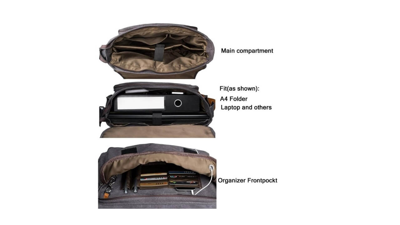 Laptop Messenger Bag For College Students