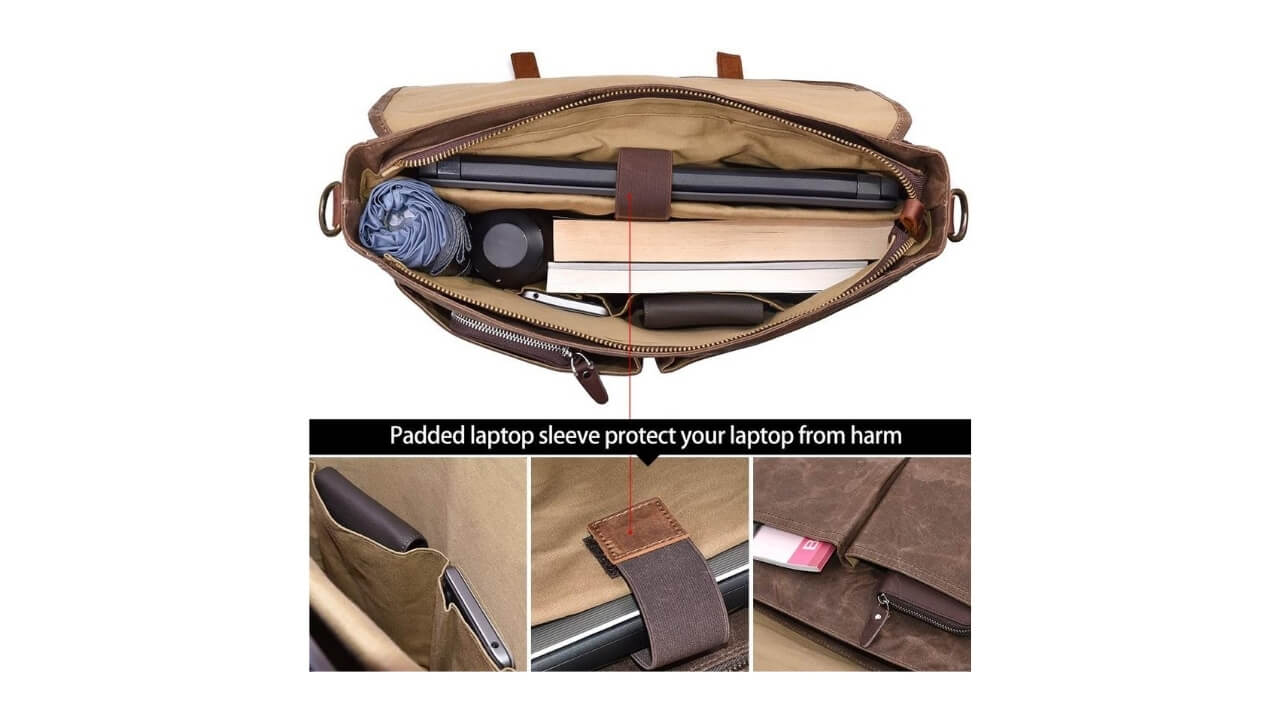 Laptop Messenger Bags For College Students 15.6