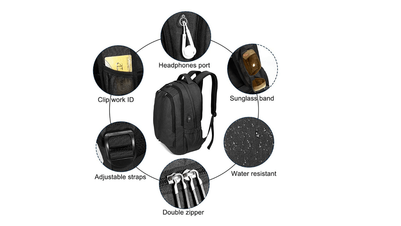 OUTJOY Laptop Backpack External Features