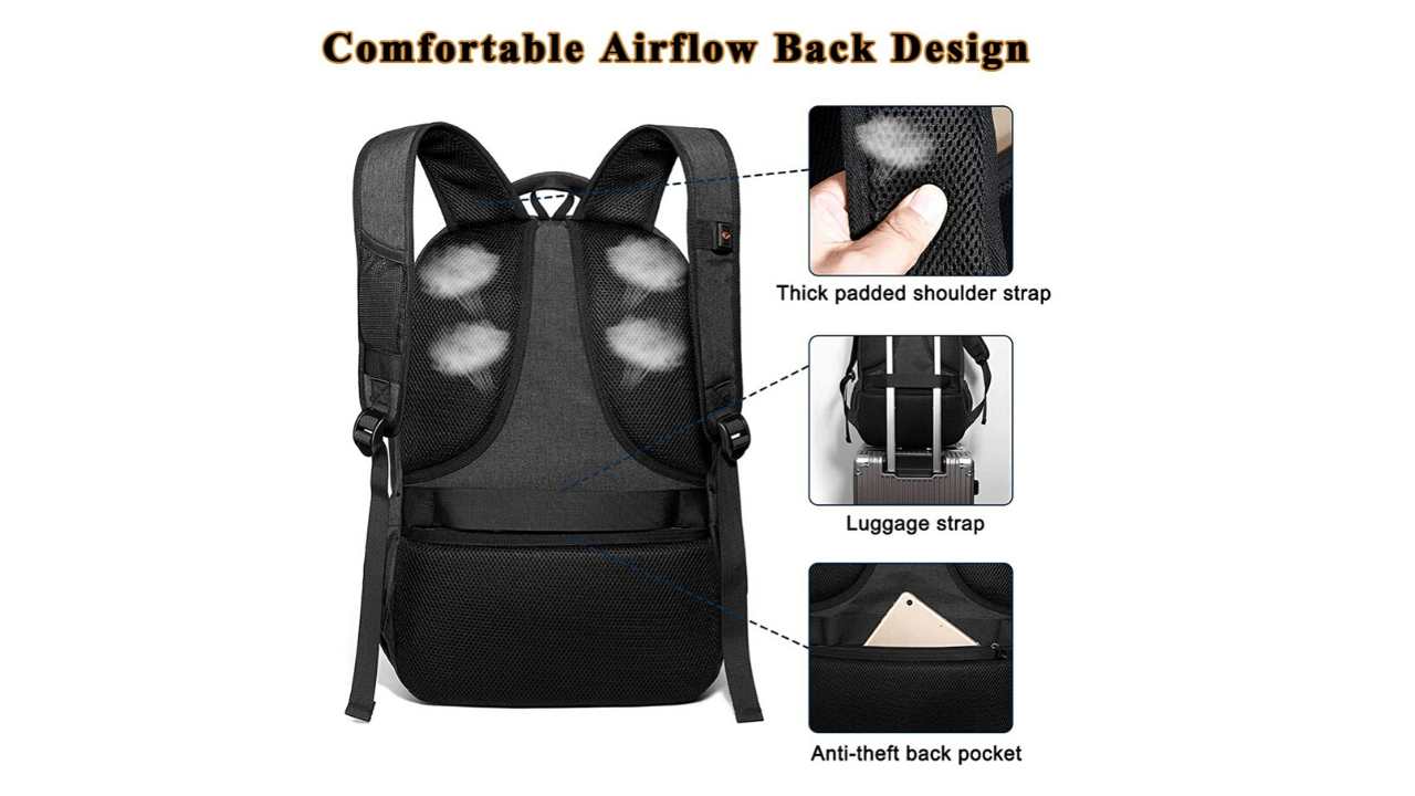 OUTJOY Laptop Backpack USB Port