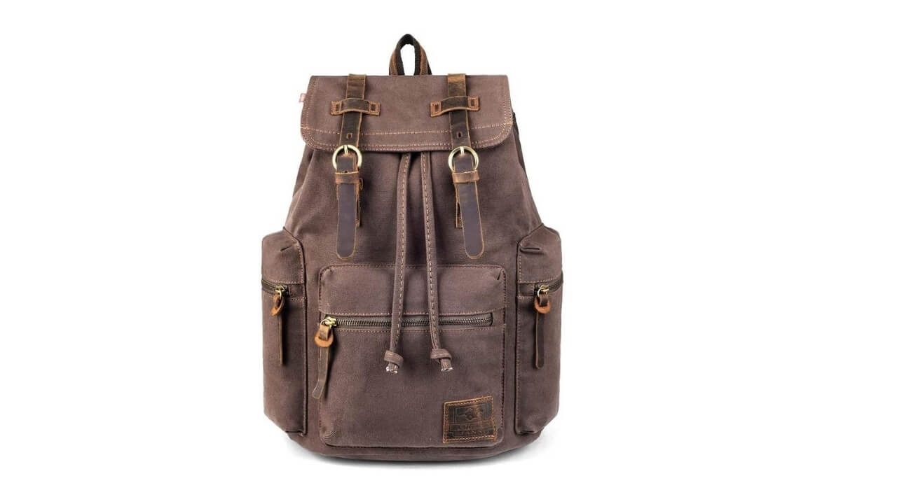 PKU VDSL Vintage Leather Backpack