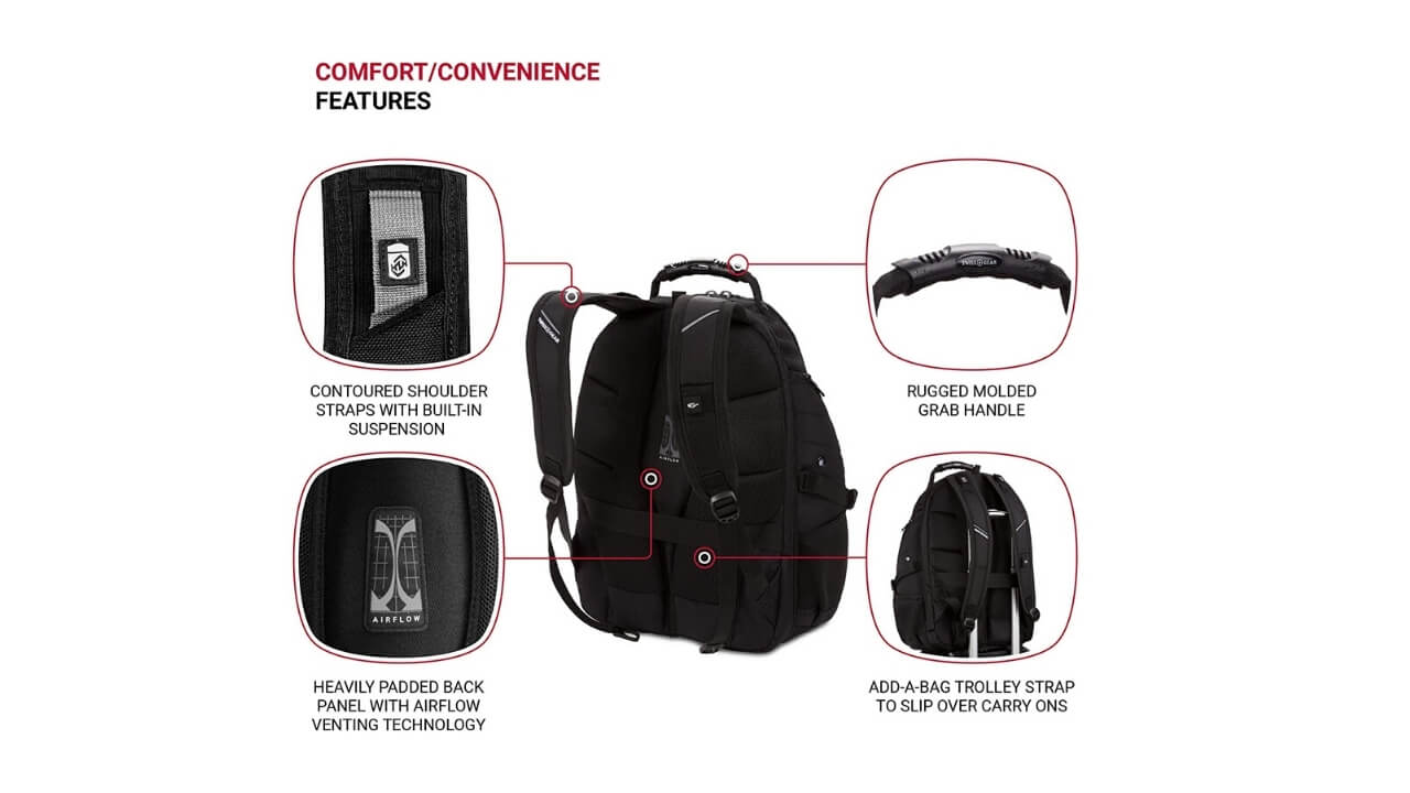 Swissgears 1900 Waterproof Backpacks For College