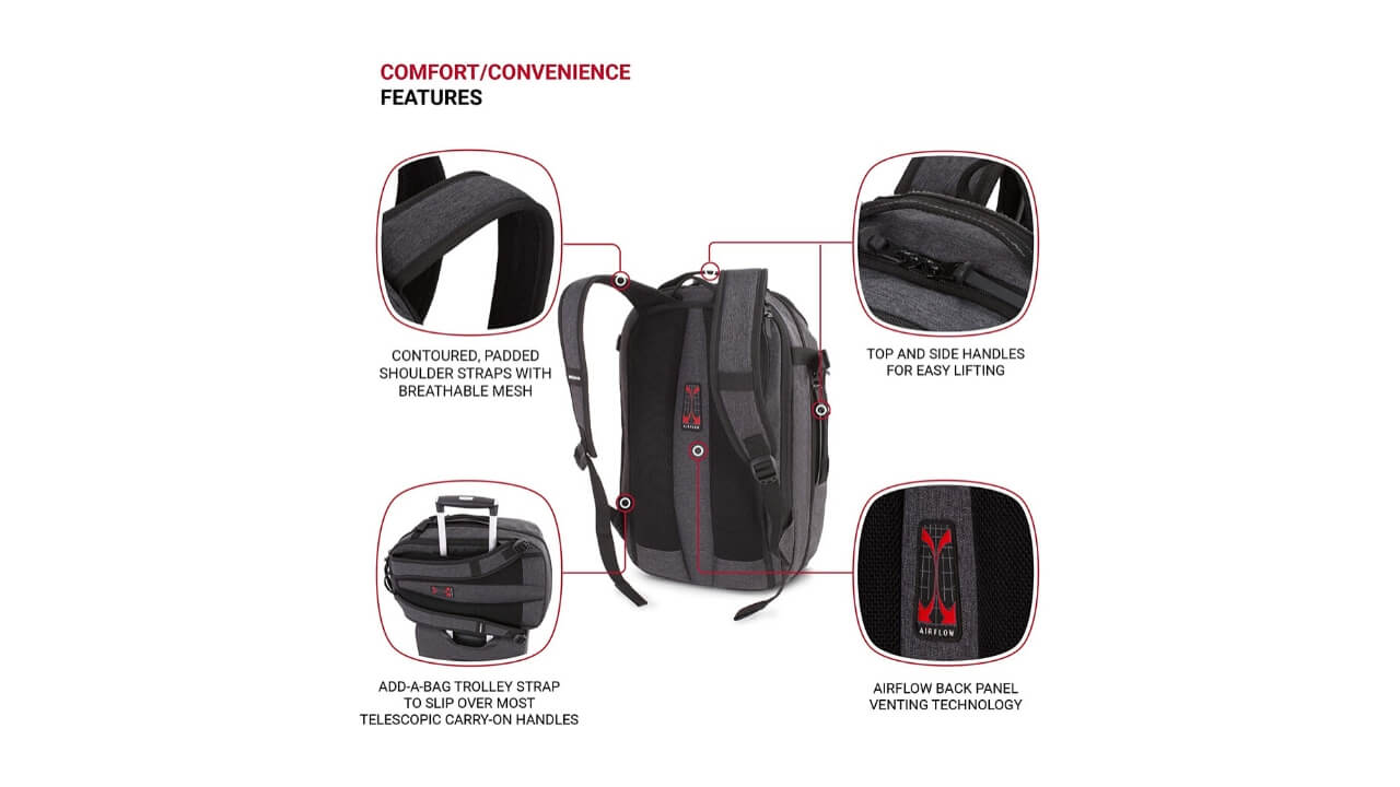 Swissgears Backpack with shoe compartment