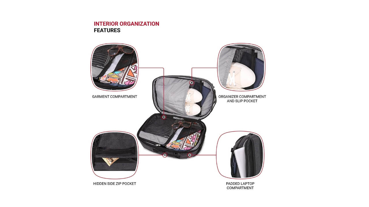 Swissgears Backpacks Compartment
