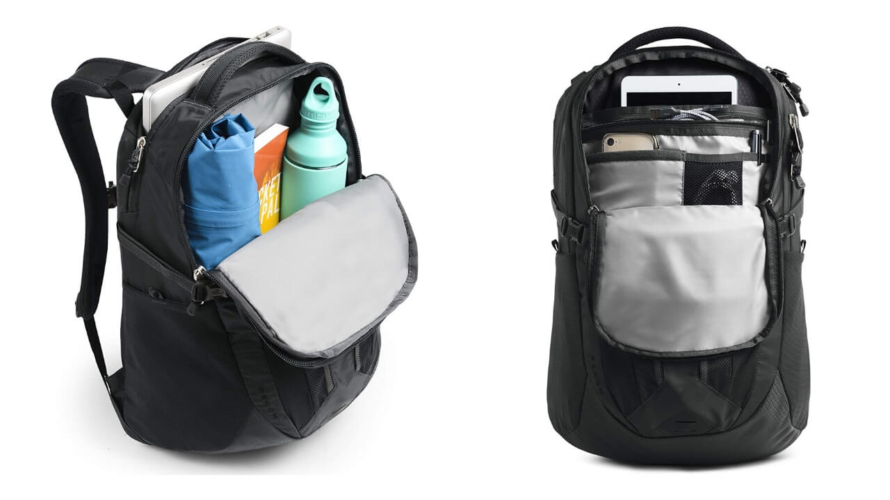 The north face daypack compartments