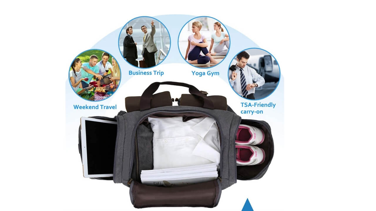 WOWBOX Duffle Bag Compartments