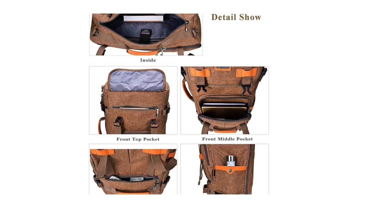 Witzman Backpacks Compartments