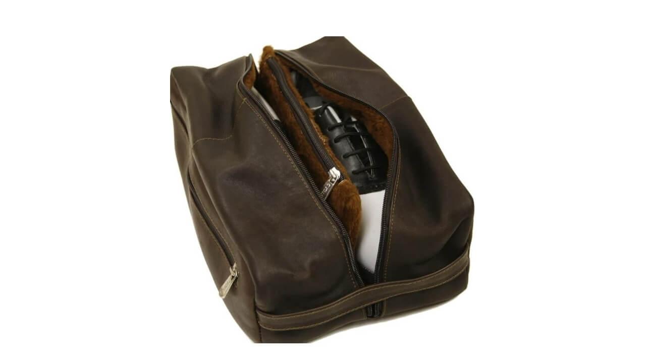Piel Golf Shoe Bag