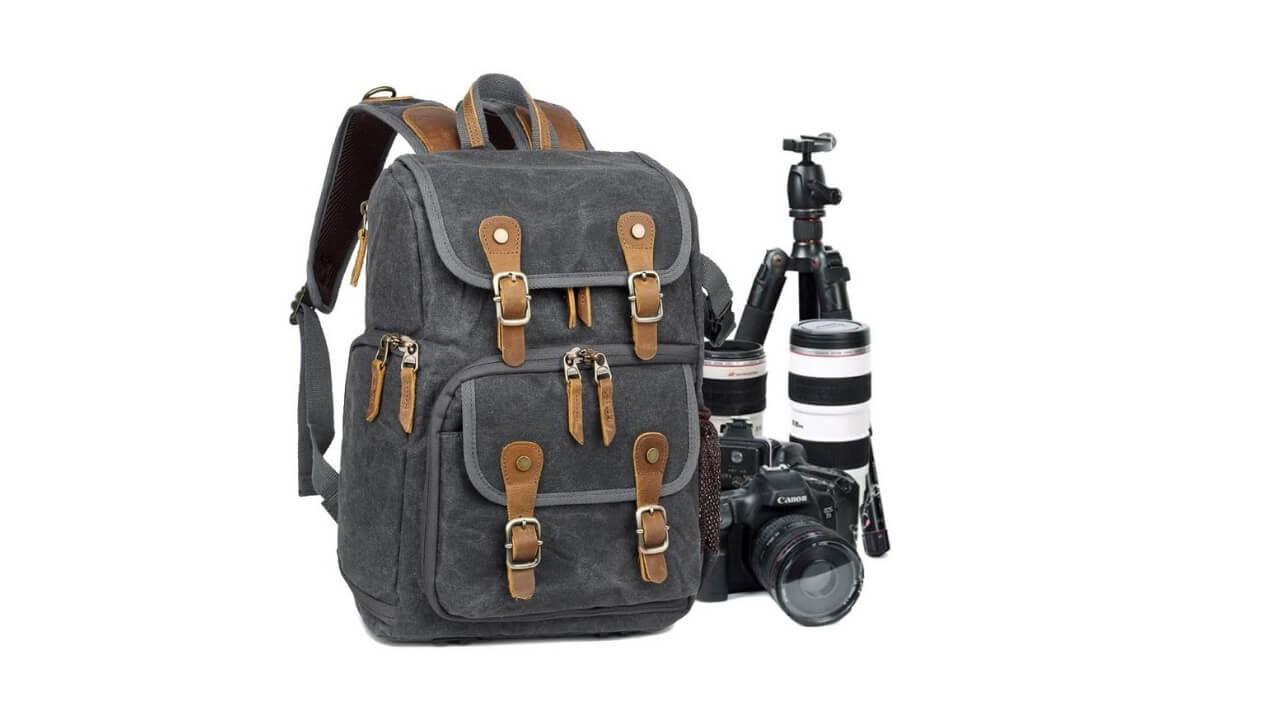 Abonnyc Canvas Camera Backpack