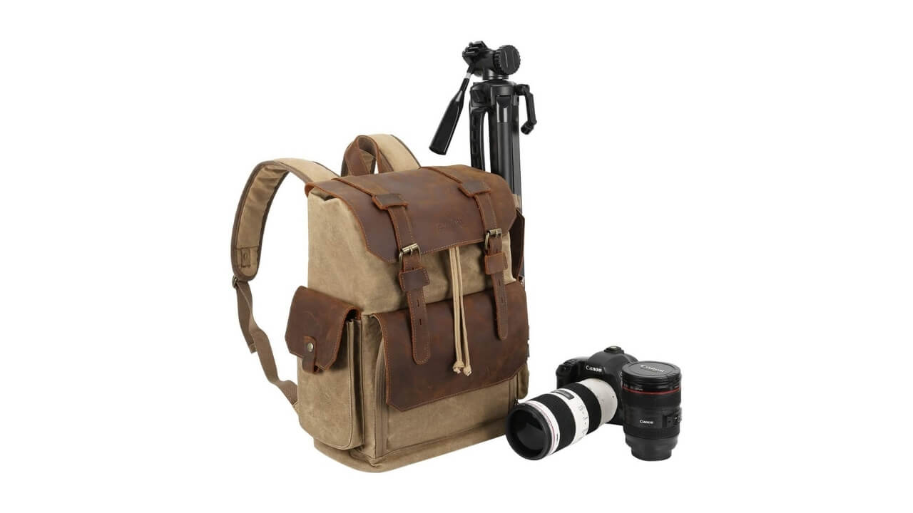 Endurax Canvas Camera Backpack