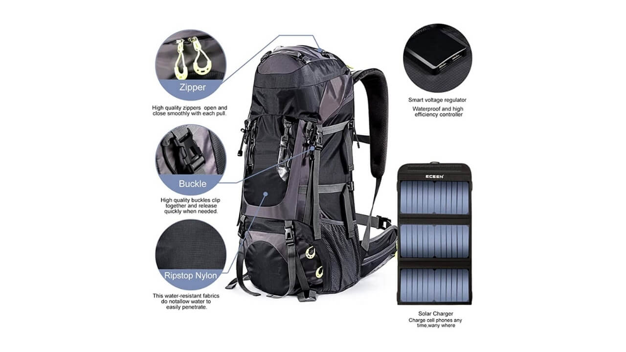 External Solar Frame Backpack
