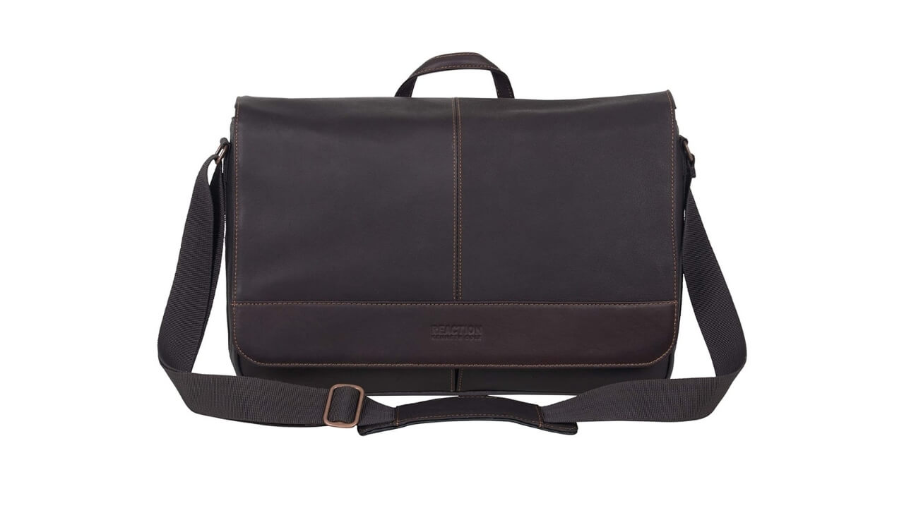 Kenneth Cole Reaction Come Best Leather Messenger Bag