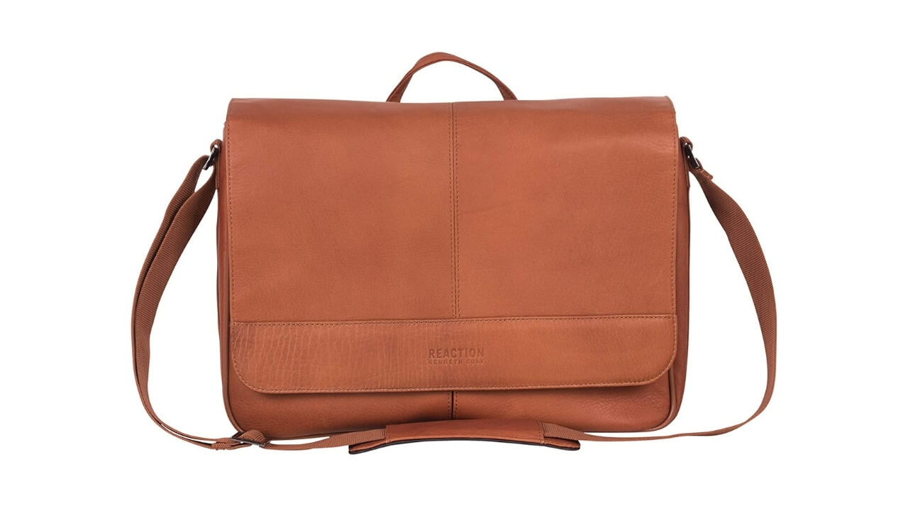 Kenneth Cole Reaction Risky Best Leather Messenger Bag