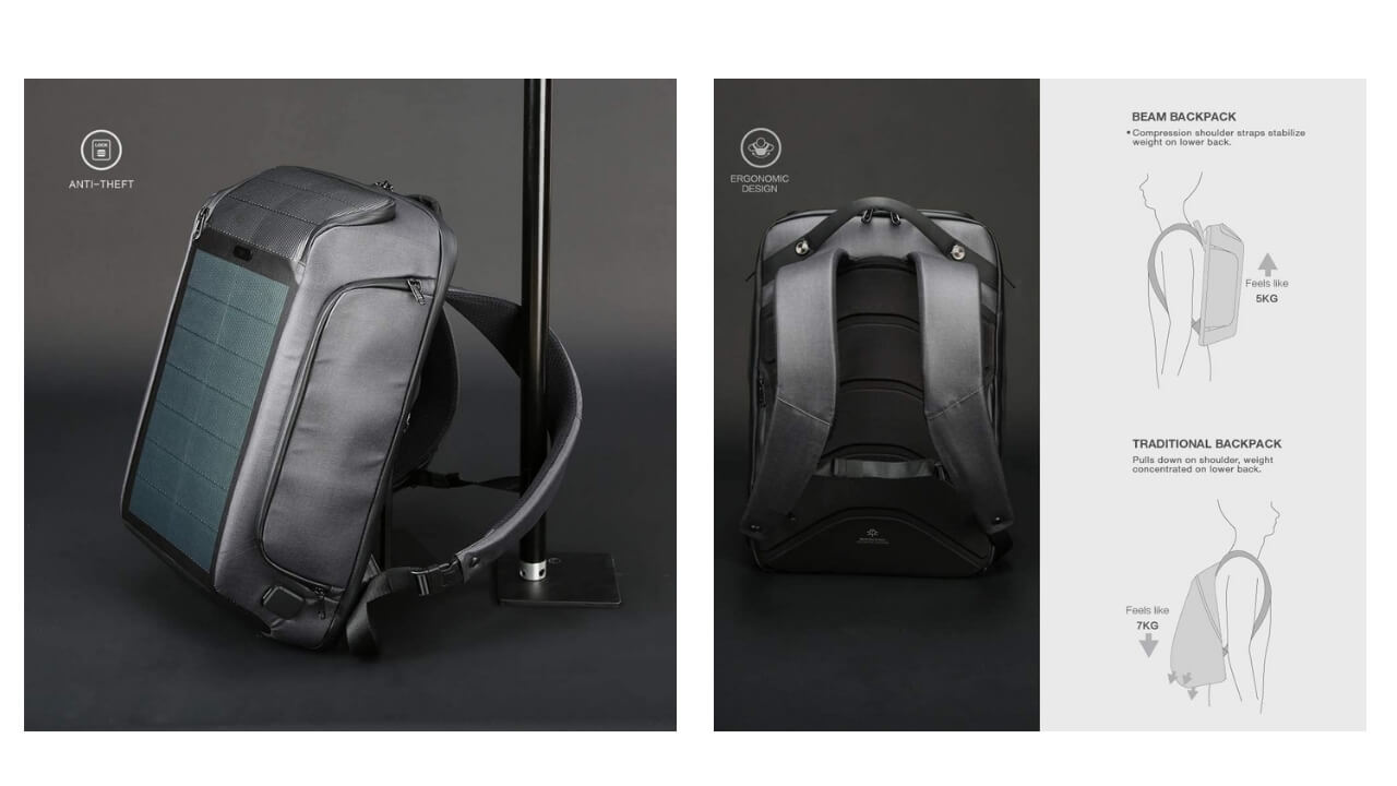 Kingsons Solar Backpack