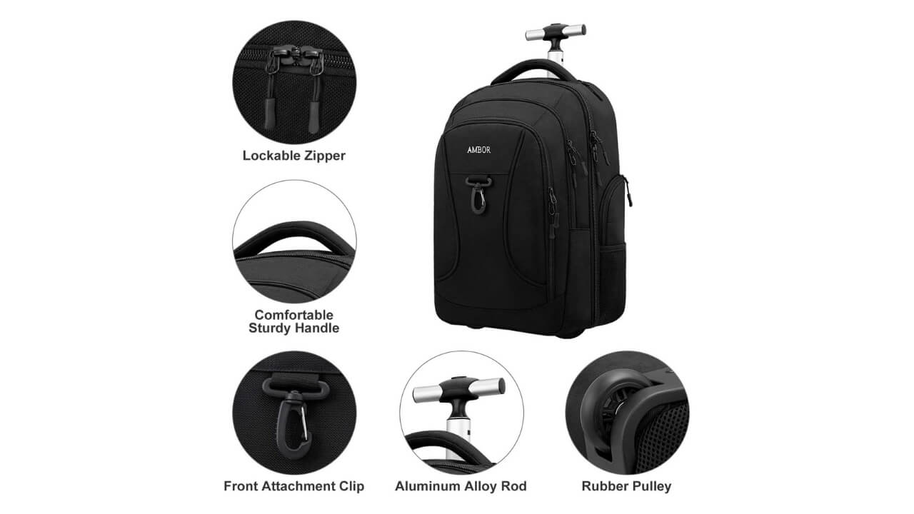 Ambor Rolling Backpack