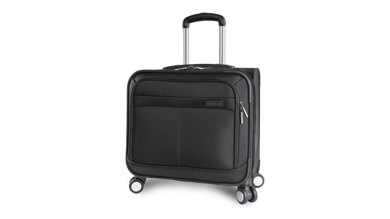 Perry Ellis 8 Best Rolling Briefcase