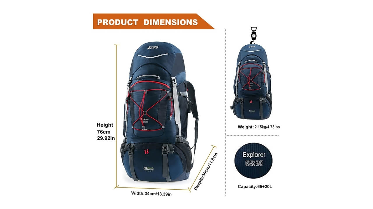 Terra Peak Best External Frame Backpack