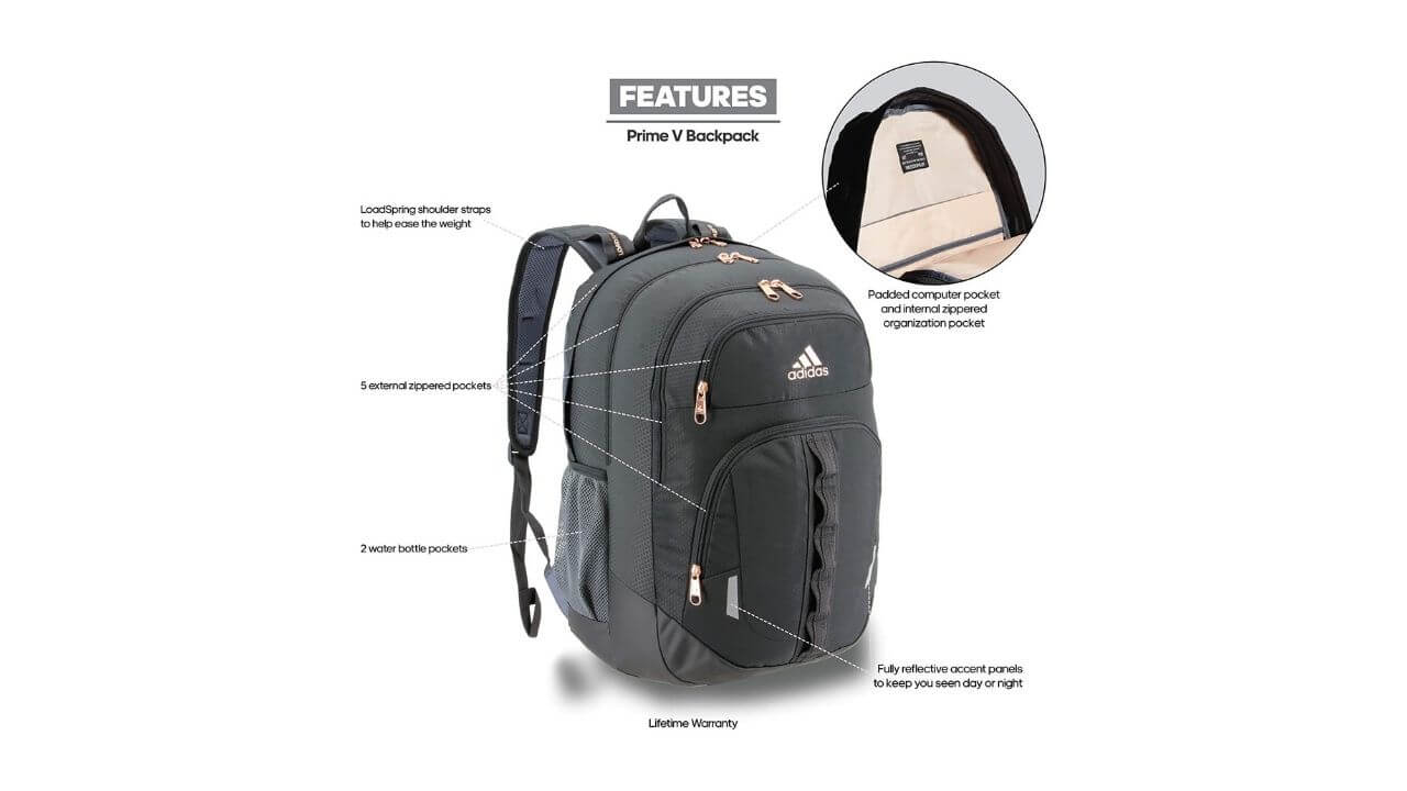 Adidas Unisex Prime Backpack For School