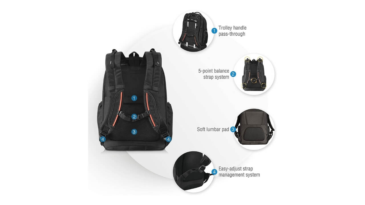 Everki Atlas Travel Friendly Backpacks For Back Pain
