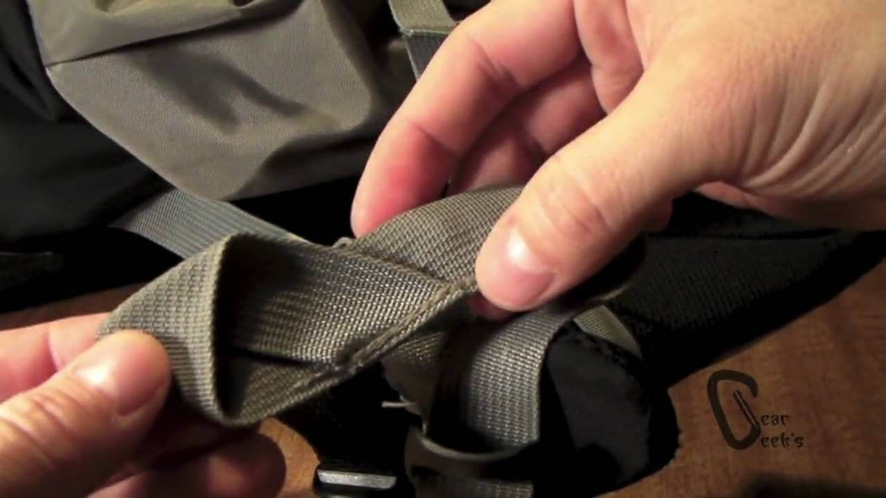 Fixing A Backpack Strap By Sewing