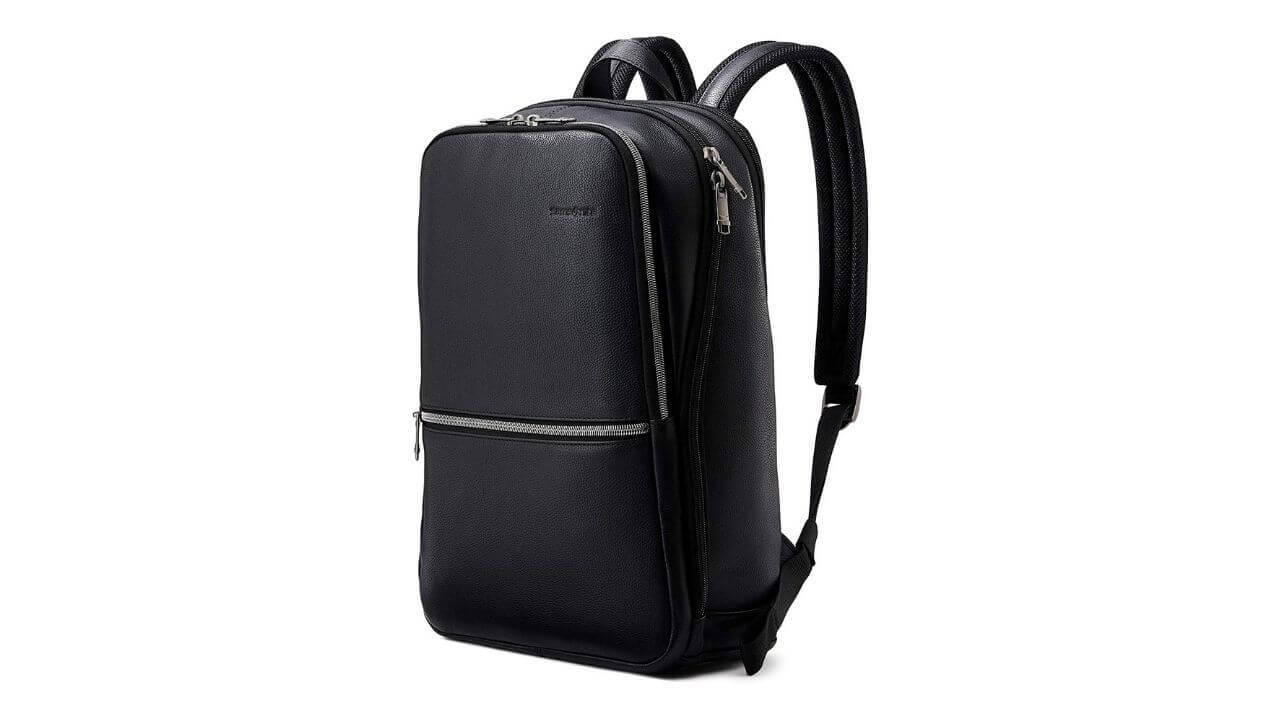 Samsonite Classic Slim Leather Best Backpacks For Law School