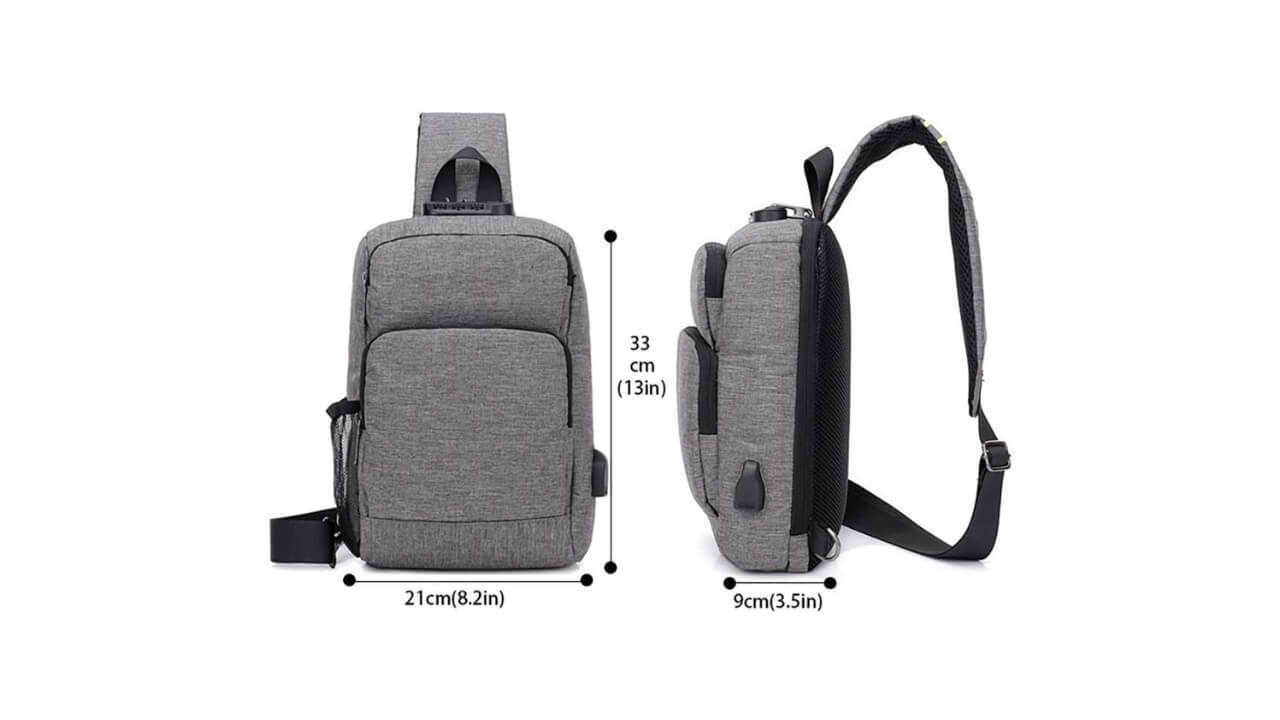 Sleeping Forest Single Strap Backpack
