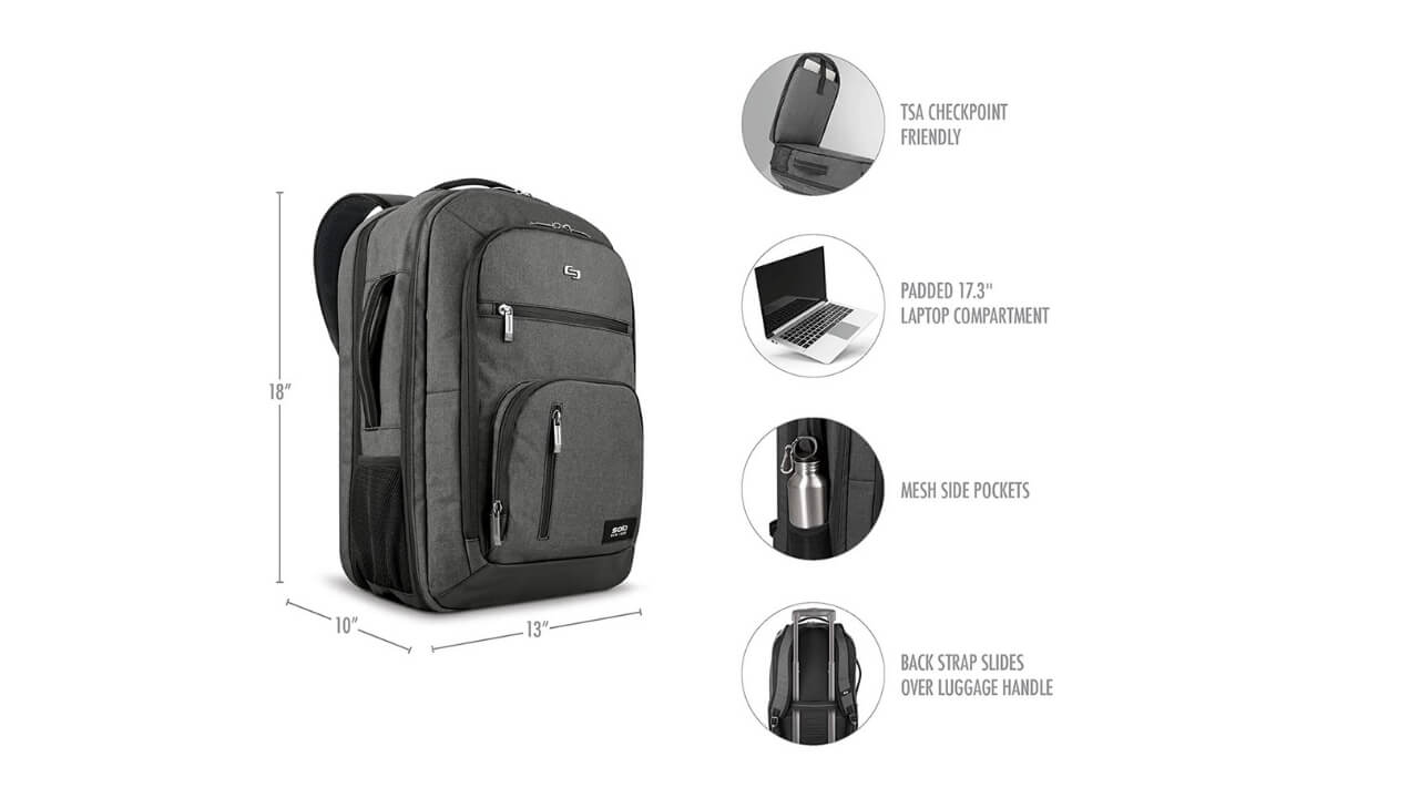 Solo New York Grand Backpacks For Back Pain