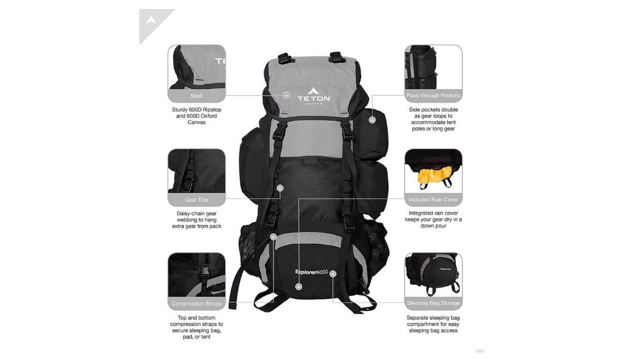 Teton Sports Explorer 4000 Survival Backpack
