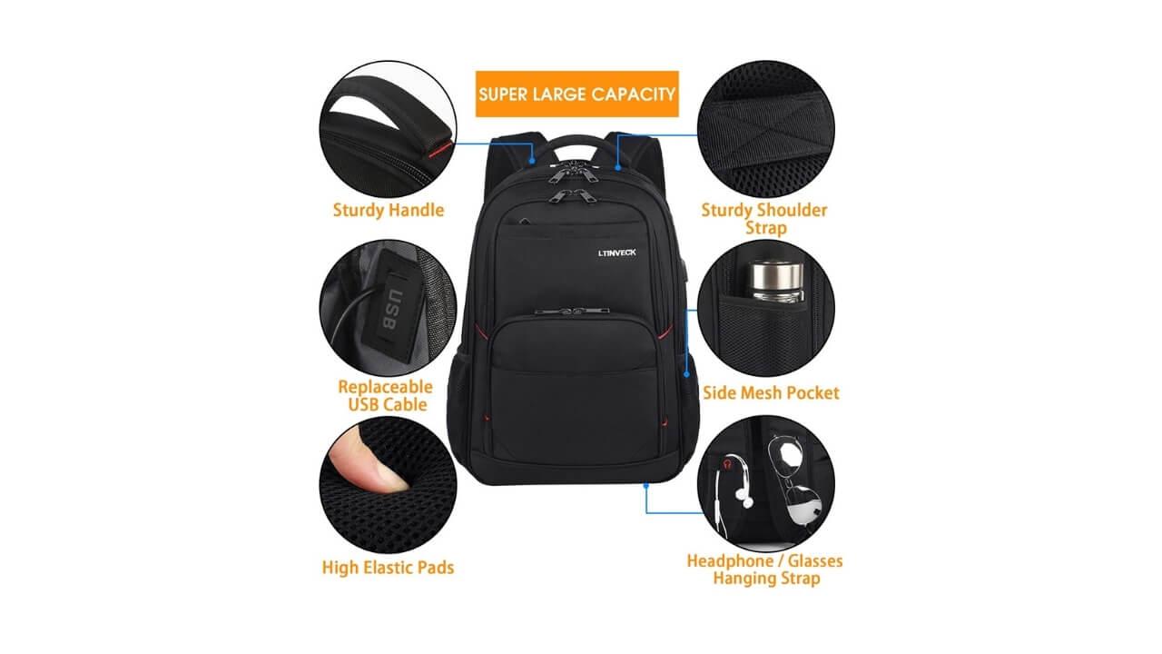 LTINVECK Backpack For Medical School