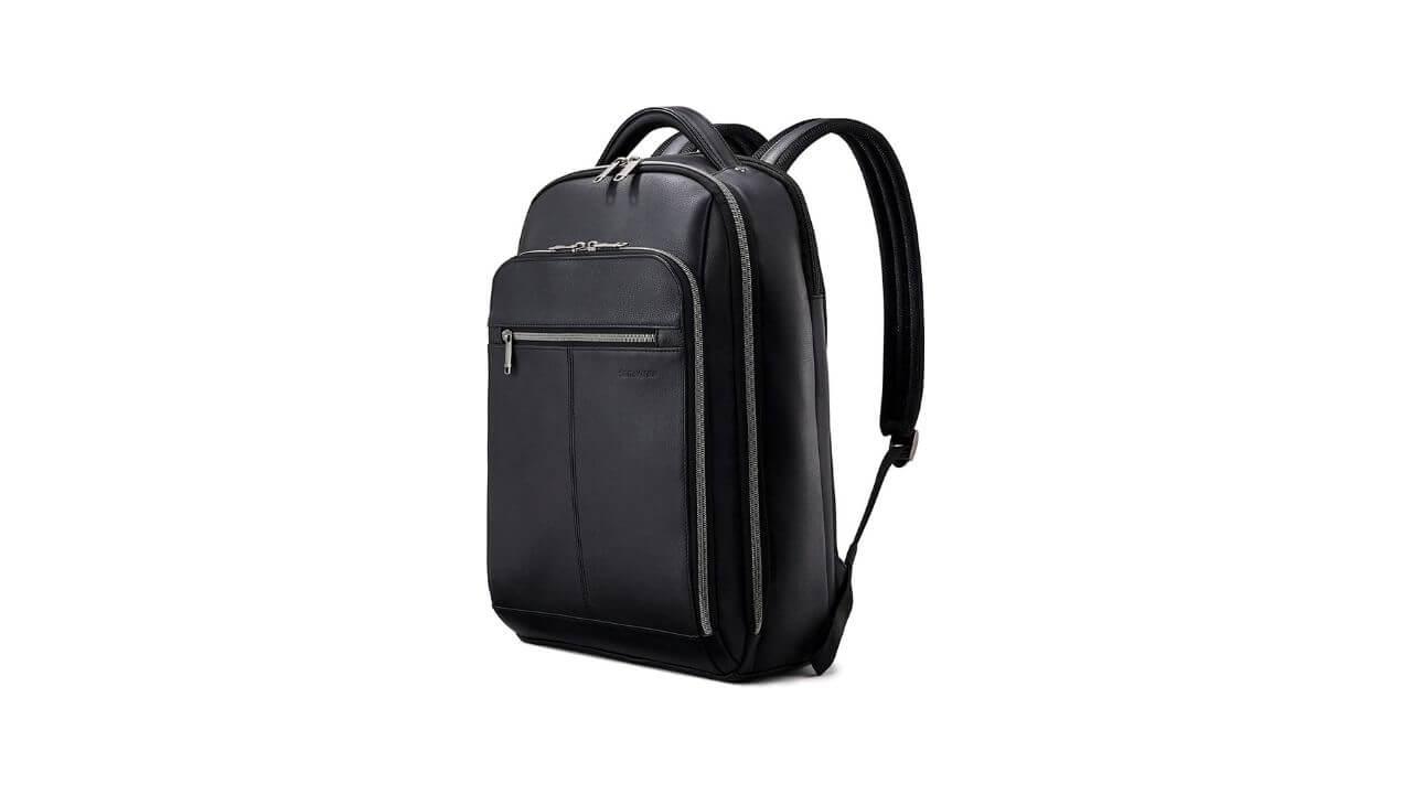 Samsonite Classic Leather Backpack, best edc backpack
