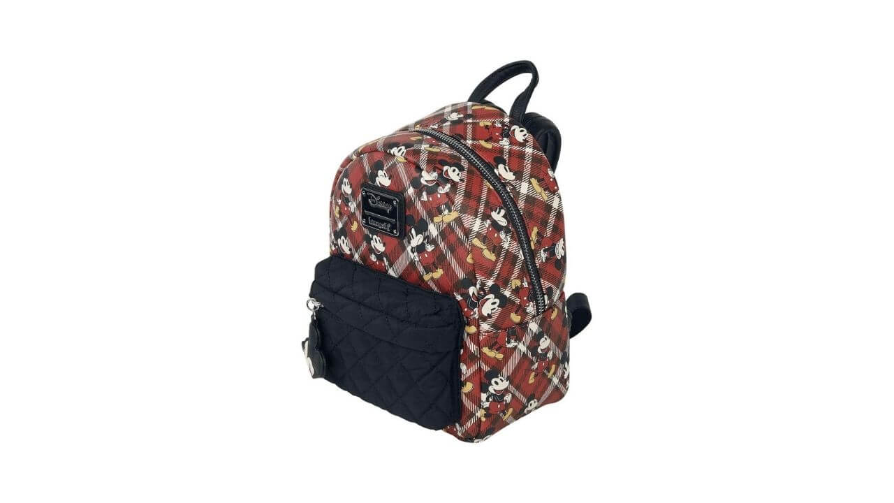 Mickey Mouse Red Plaid Backpack